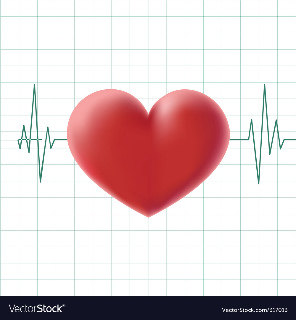 Pulse heart on a screen vector   Price: 1 Credit (USD $1)