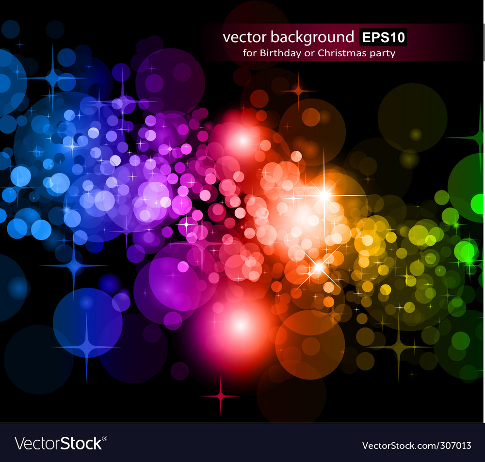 Rainbow lights background vector