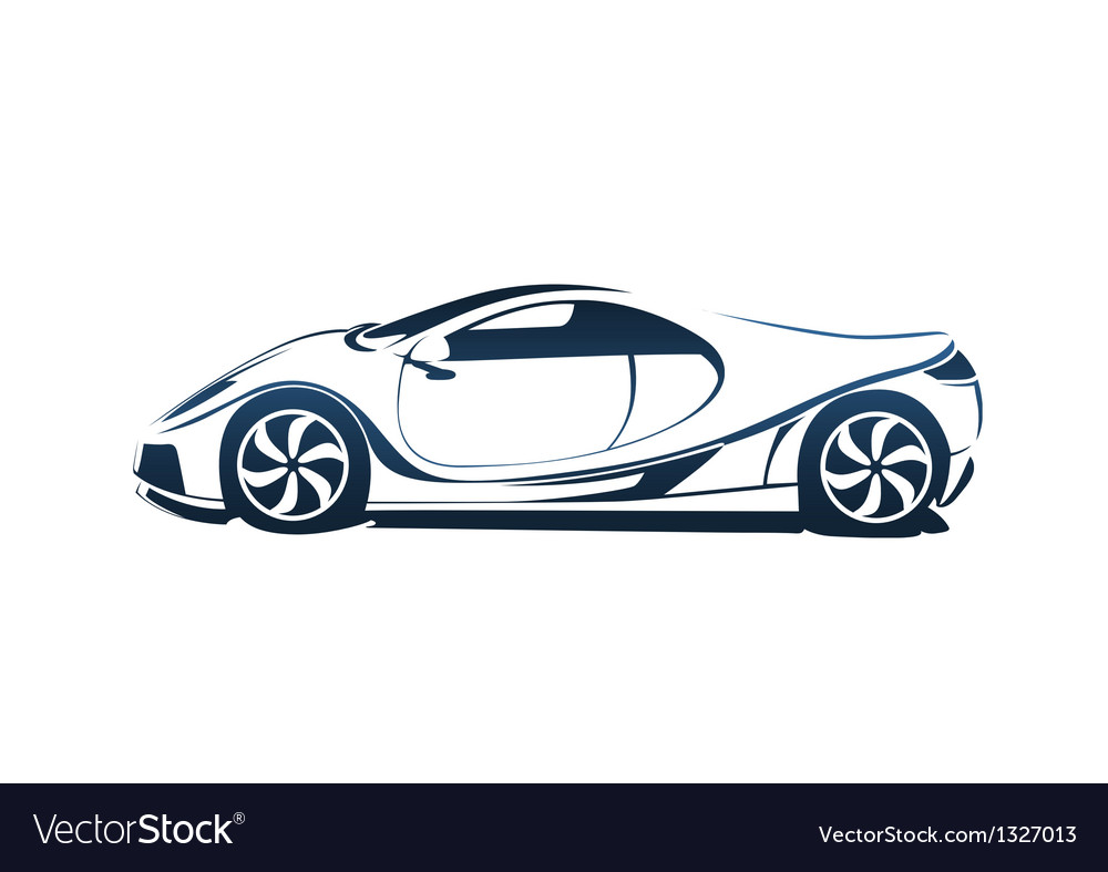 Speedy racing sport car vector   Price: 1 Credit (USD $1)