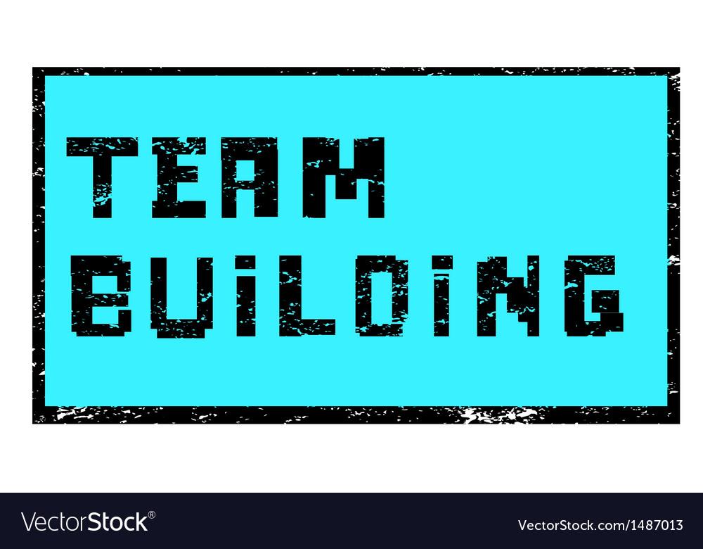 Team building pixel stamp vector | Price: 1 Credit (USD $1)