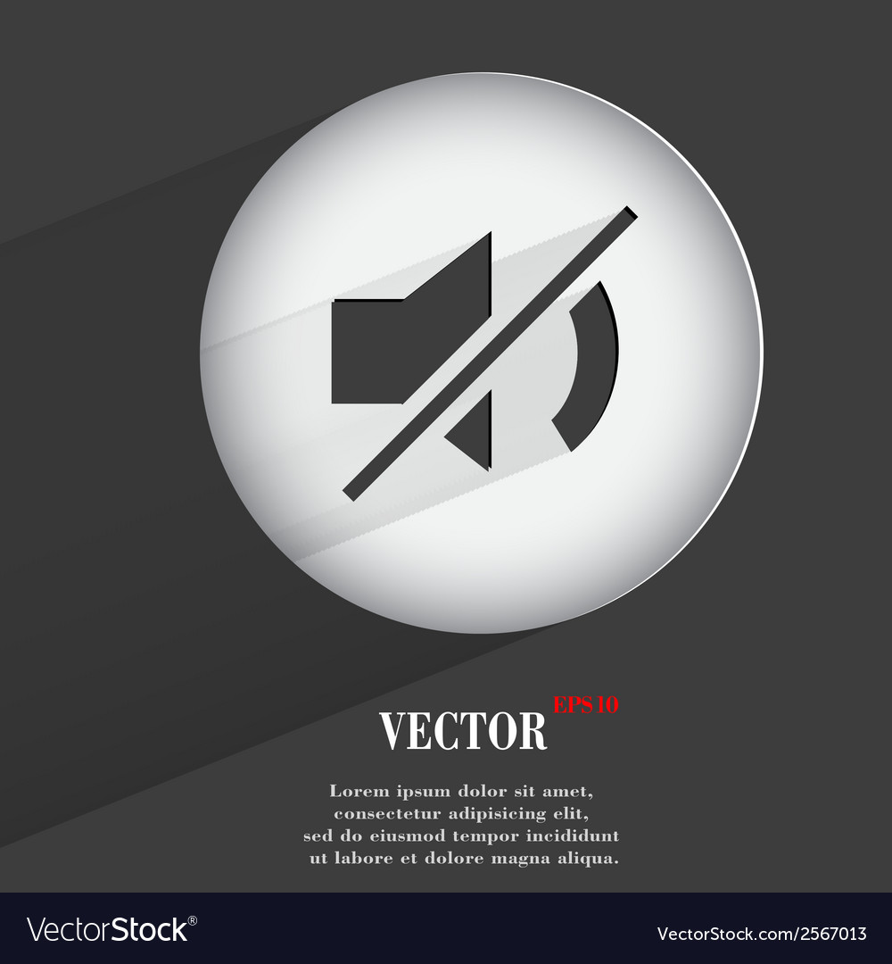 Volume offflat modern web button with long shadow vector   Price: 1 Credit (USD $1)