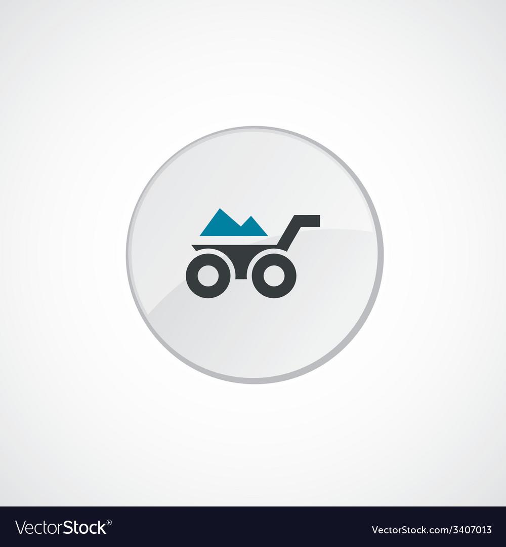 Wheelbarrow icon 2 colored vector | Price: 1 Credit (USD $1)
