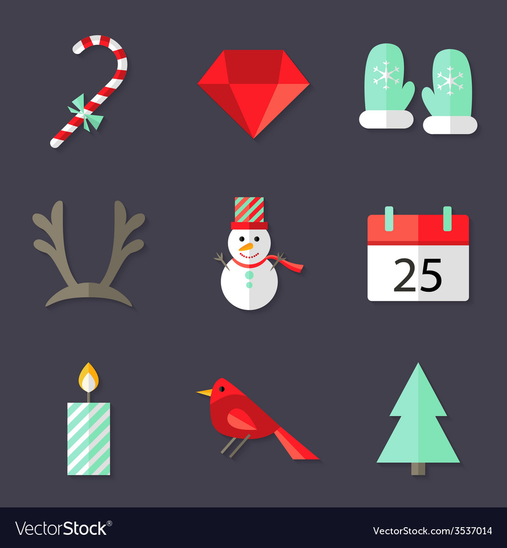 9 christmas icons set 3 vector | Price: 1 Credit (USD $1)