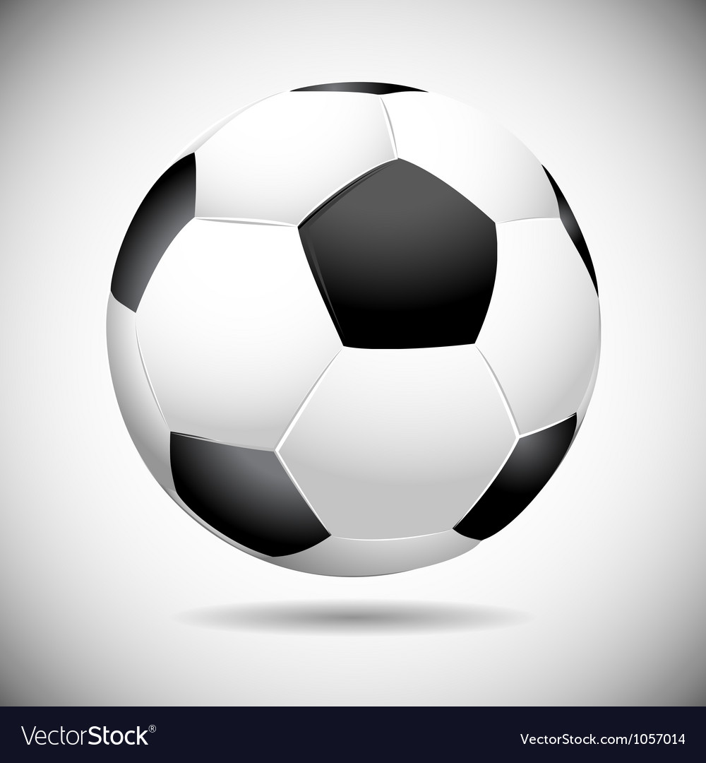 Black and white soccer ball vector | Price: 1 Credit (USD $1)
