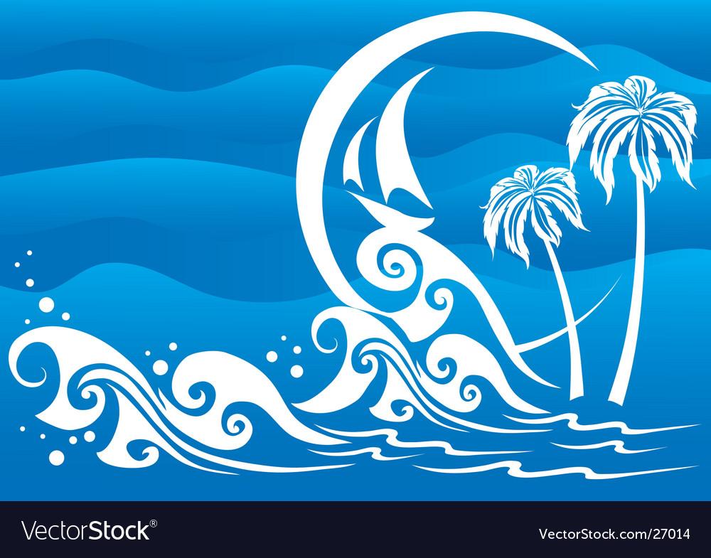 The dark blue sea vector | Price: 1 Credit (USD $1)