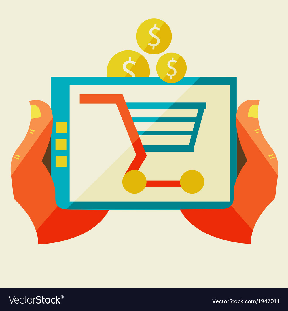 Electronic commerce and various shopping vector | Price: 1 Credit (USD $1)