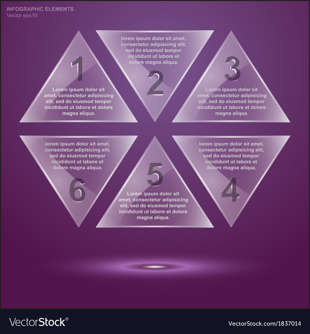 Glass triangle infographic 2 vector | Price: 1 Credit (USD $1)