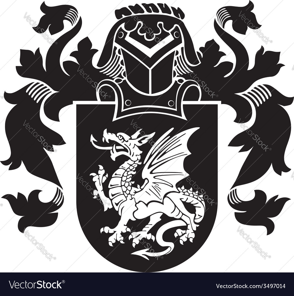 Heraldic silhouette no35 vector | Price: 1 Credit (USD $1)