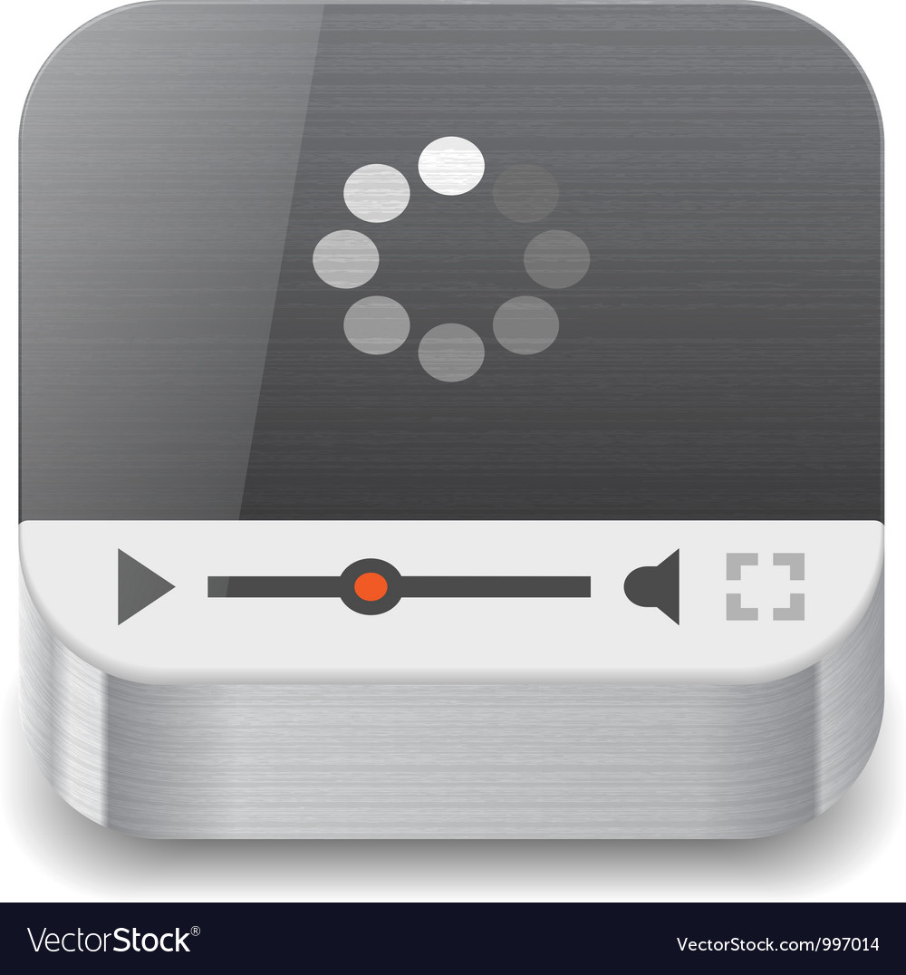 Icon for streaming media vector | Price: 3 Credit (USD $3)