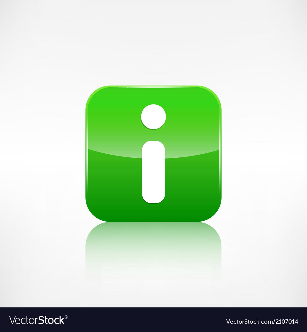 Information web icon application button vector | Price: 1 Credit (USD $1)