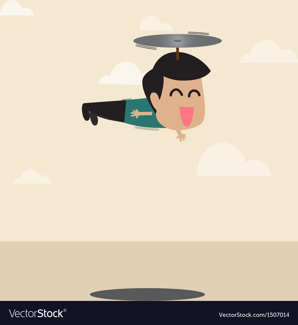 Oy flying away vector | Price: 1 Credit (USD $1)
