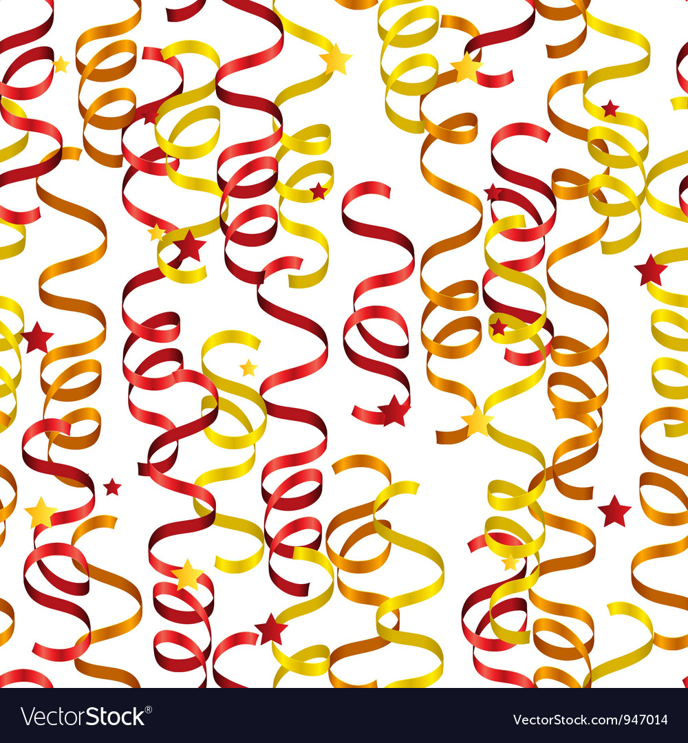 Party streamers pattern vector | Price: 1 Credit (USD $1)