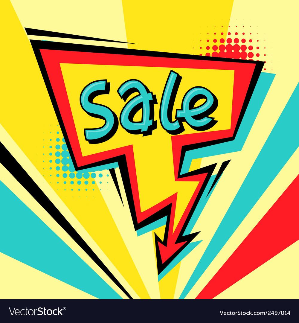 Sale comic speech bubble background in cartoon vector   Price: 1 Credit (USD $1)