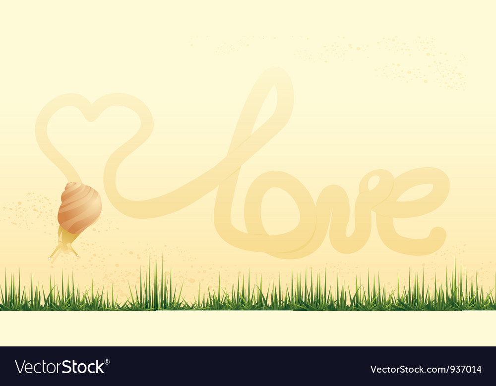 Snail and heart vector | Price: 1 Credit (USD $1)
