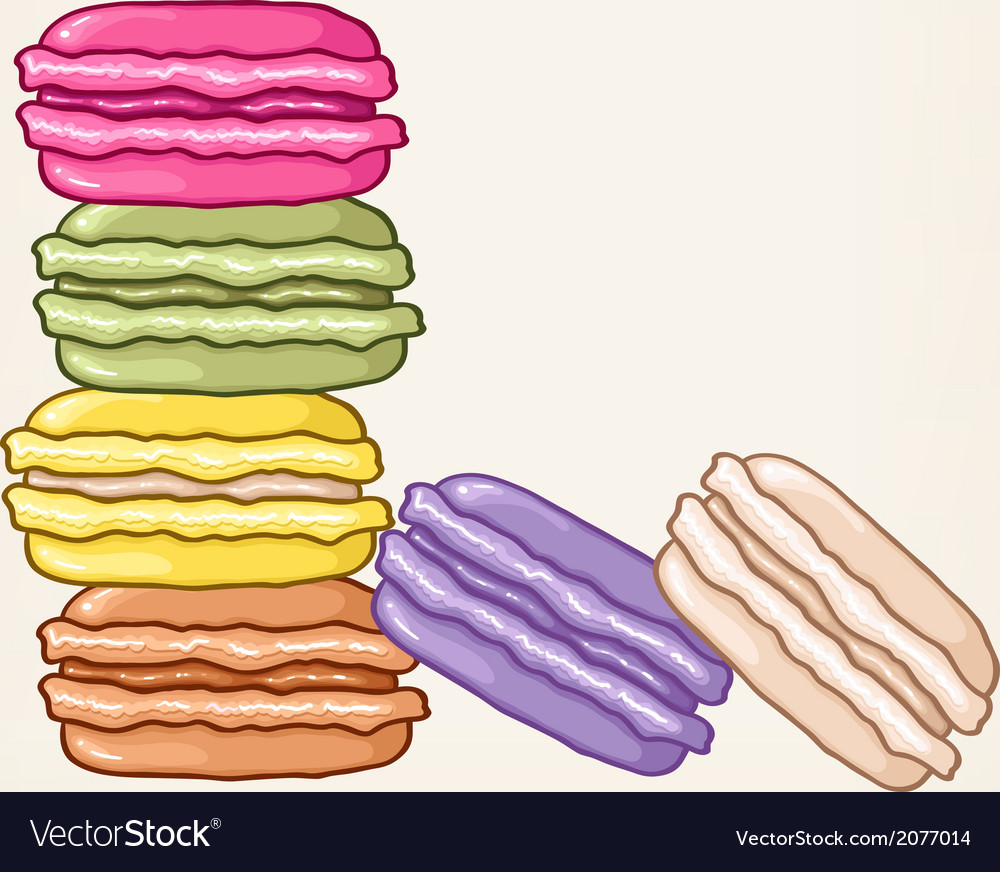 Stack of colourful macaroons vector | Price: 1 Credit (USD $1)
