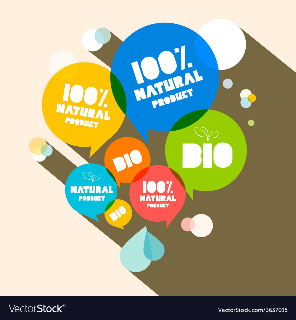 100 natural product - bio vector | Price: 1 Credit (USD $1)