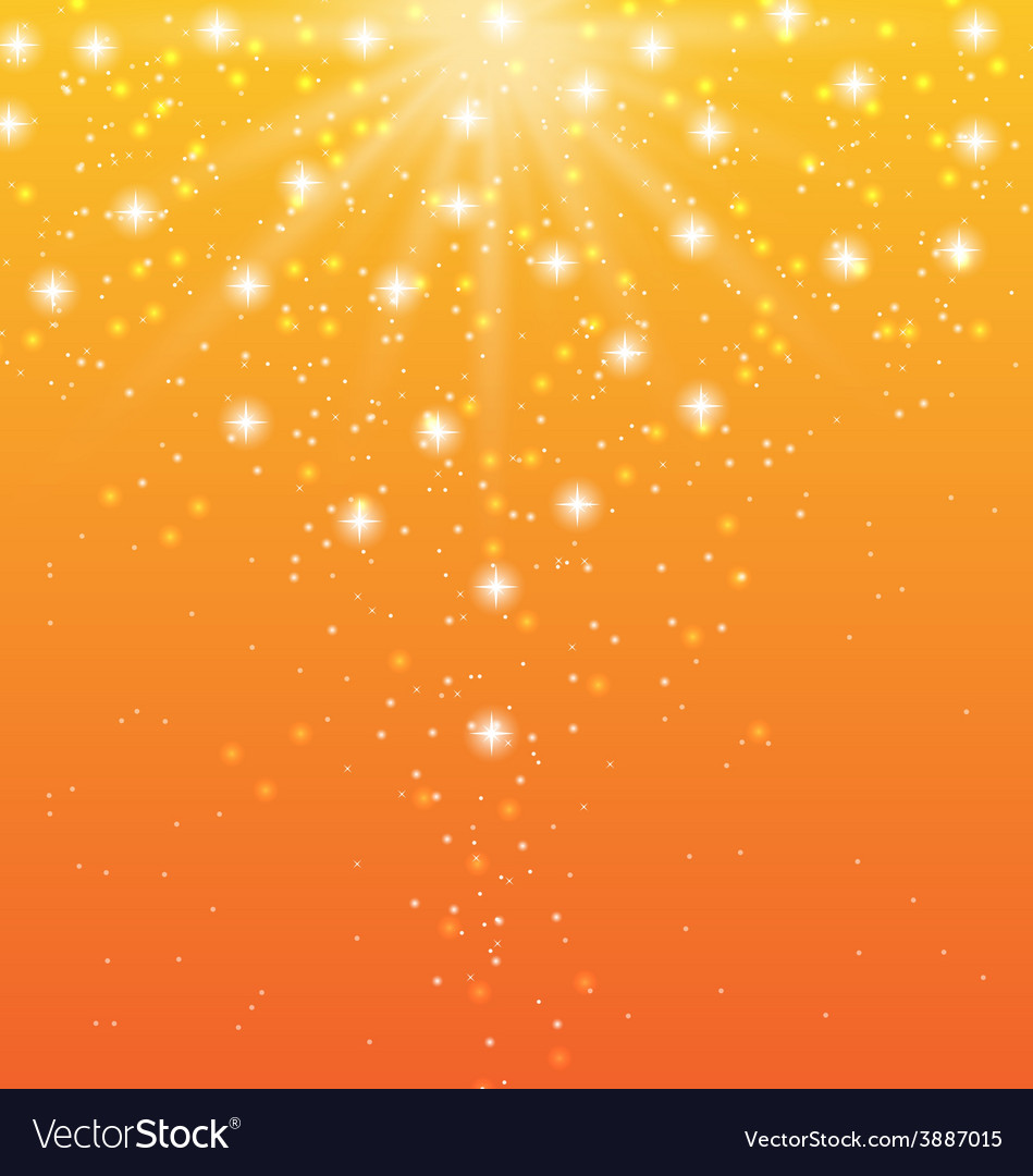 Abstract orange background with sun rays and shiny vector | Price: 1 Credit (USD $1)