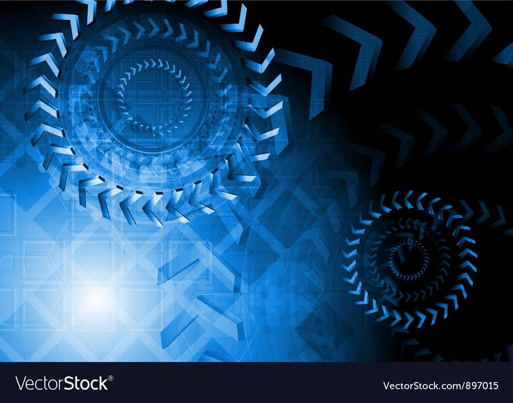 Blue technology design vector | Price: 1 Credit (USD $1)