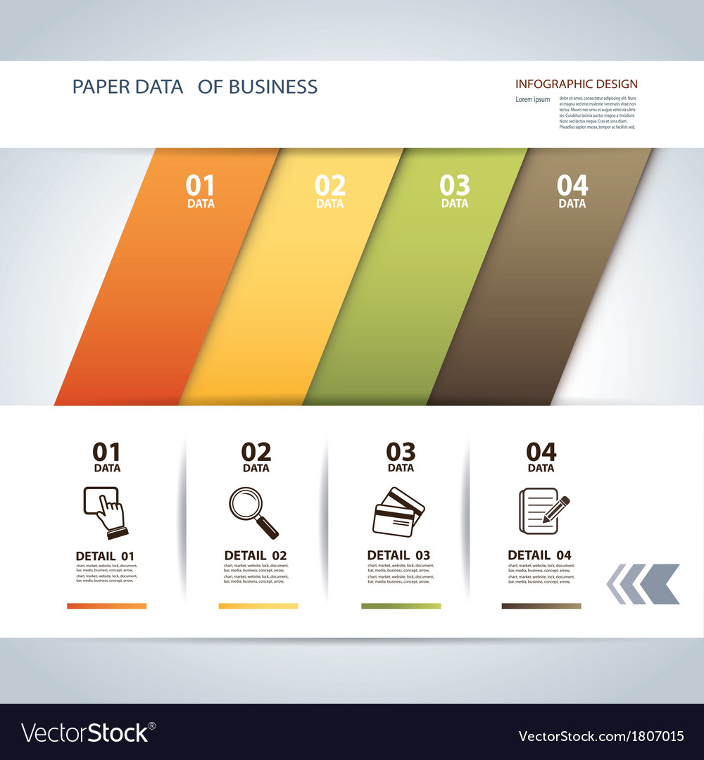 Business step paper lines and numbers template vector | Price: 1 Credit (USD $1)