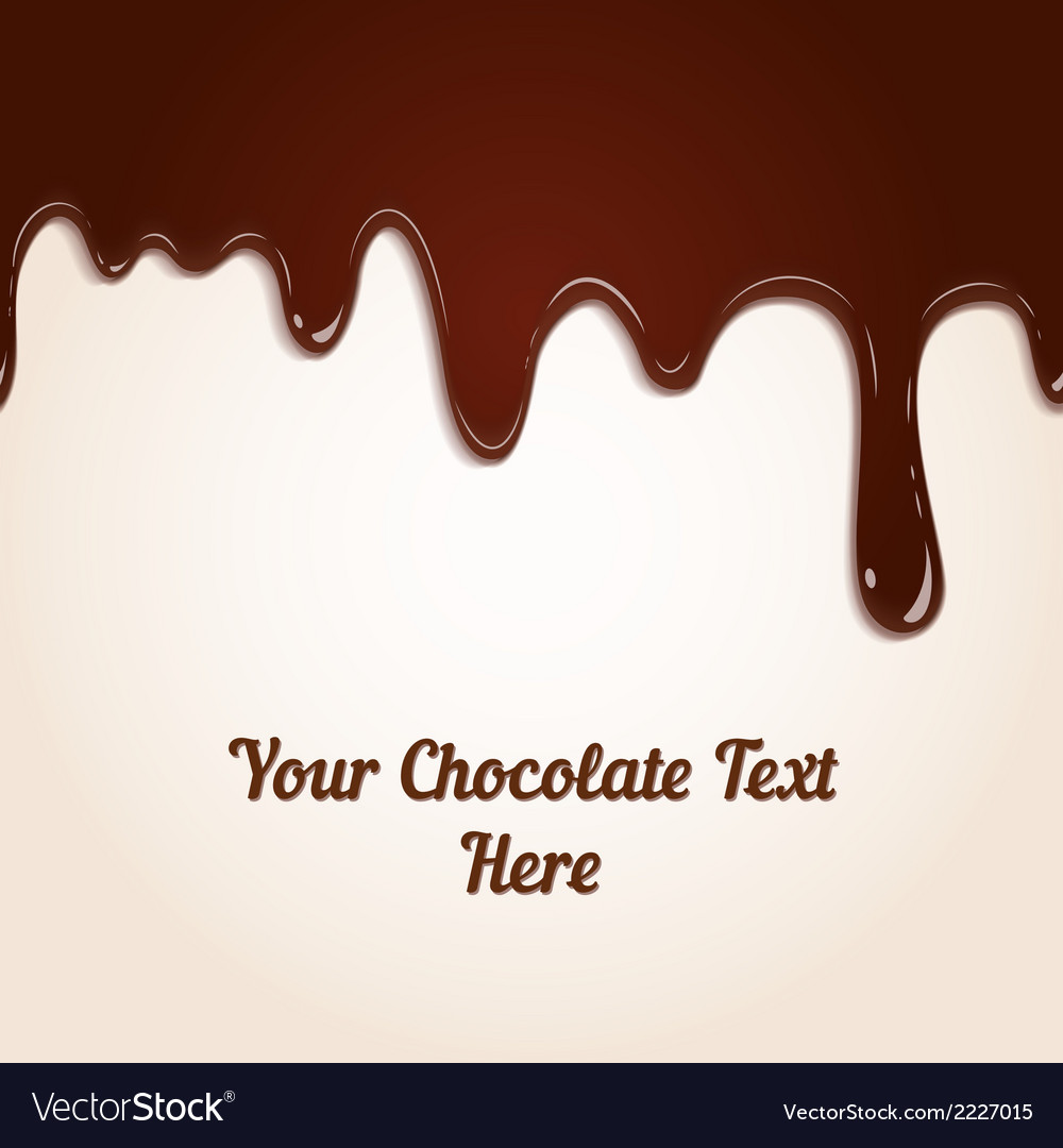 Chocolate dripping vector | Price: 1 Credit (USD $1)