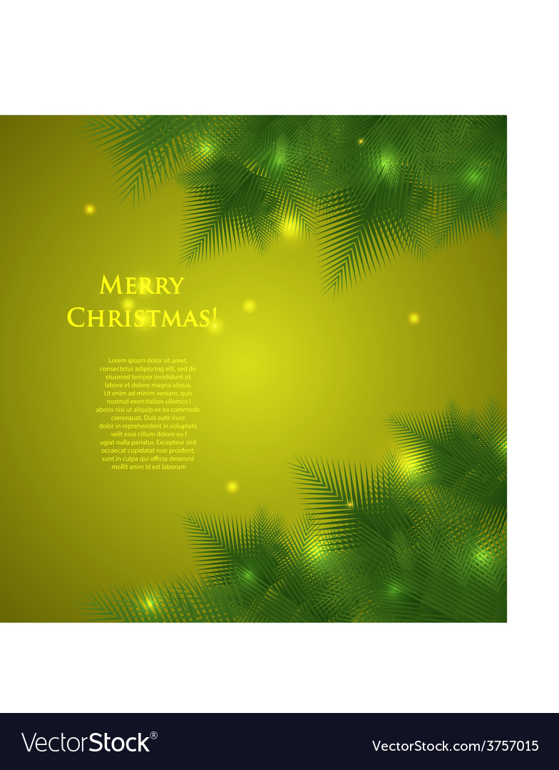 Christmas card with spruce branchesillumination vector | Price: 1 Credit (USD $1)