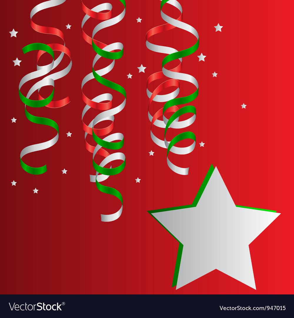 Christmas christmas streamers vector | Price: 1 Credit (USD $1)
