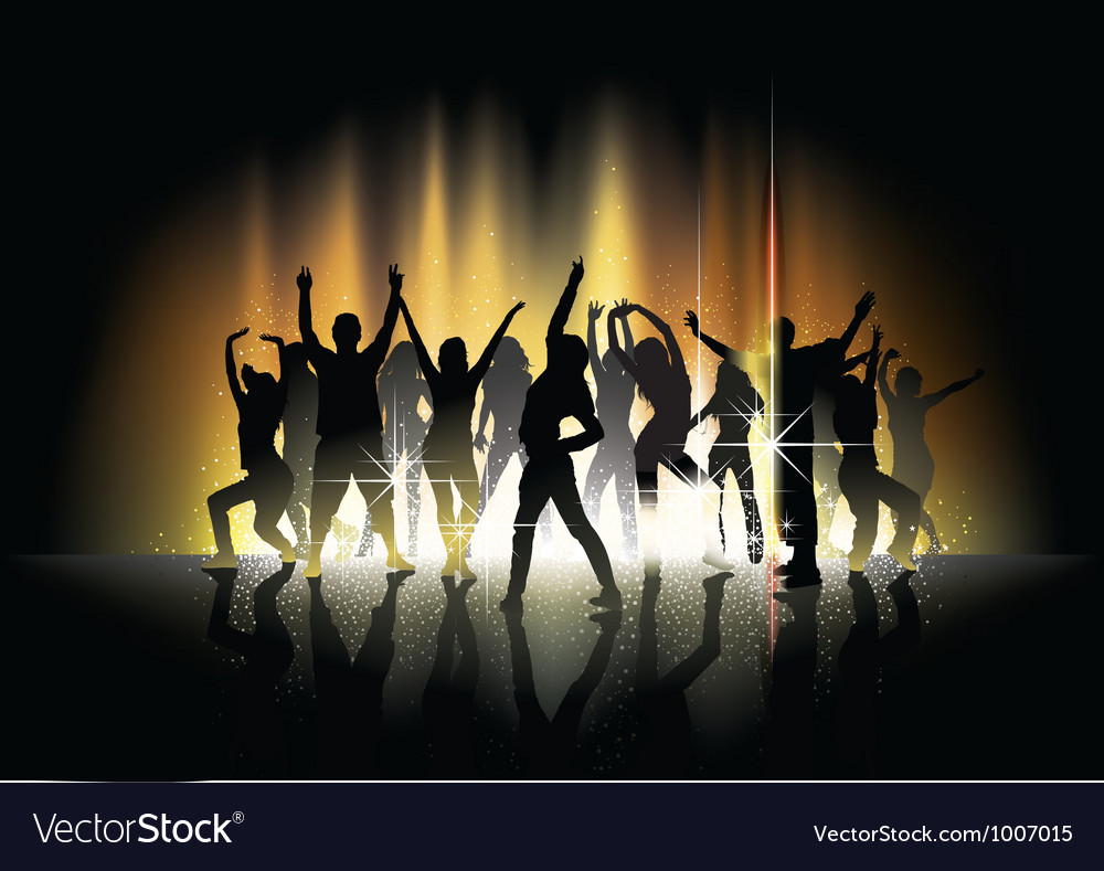 Dance and light show vector
