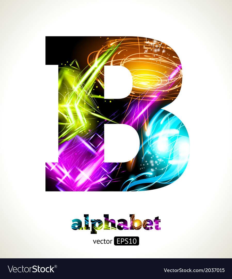Design abstract letter b vector   Price: 1 Credit (USD $1)