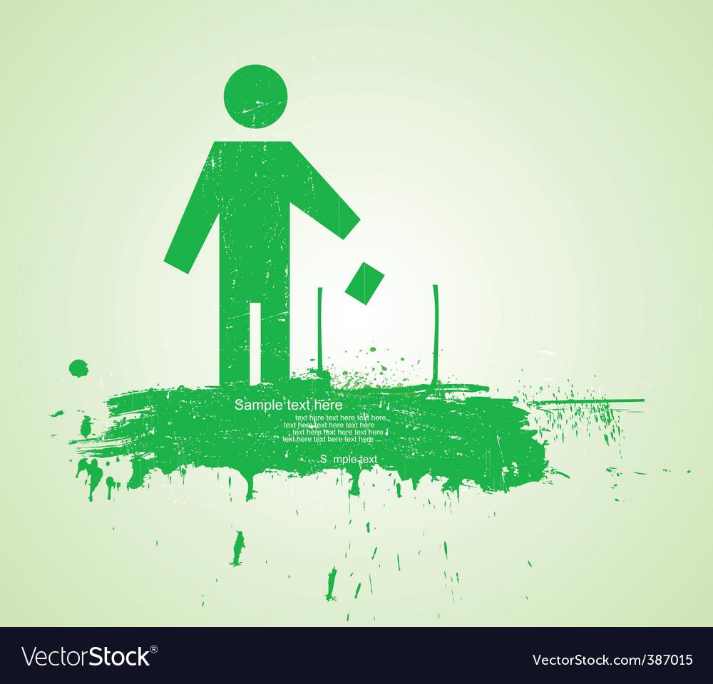 Eco man vector | Price: 1 Credit (USD $1)