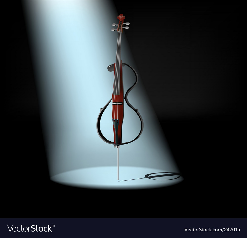 Electric cello vector | Price: 1 Credit (USD $1)