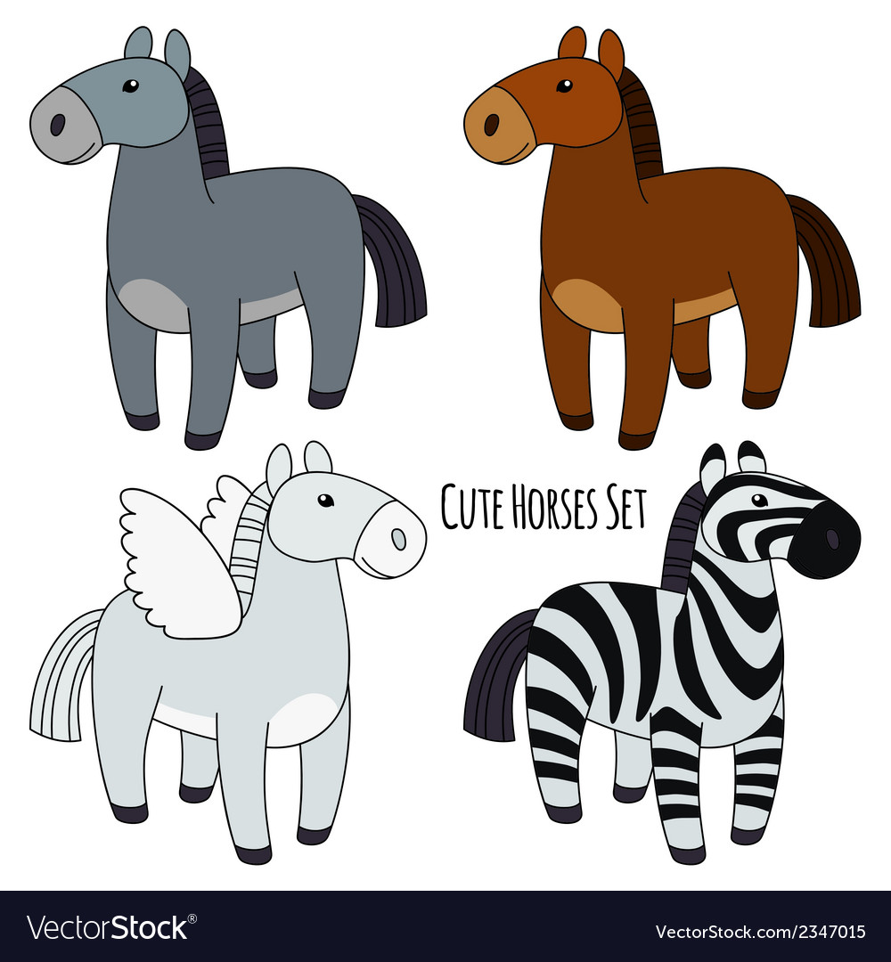 Horses set vector | Price: 1 Credit (USD $1)