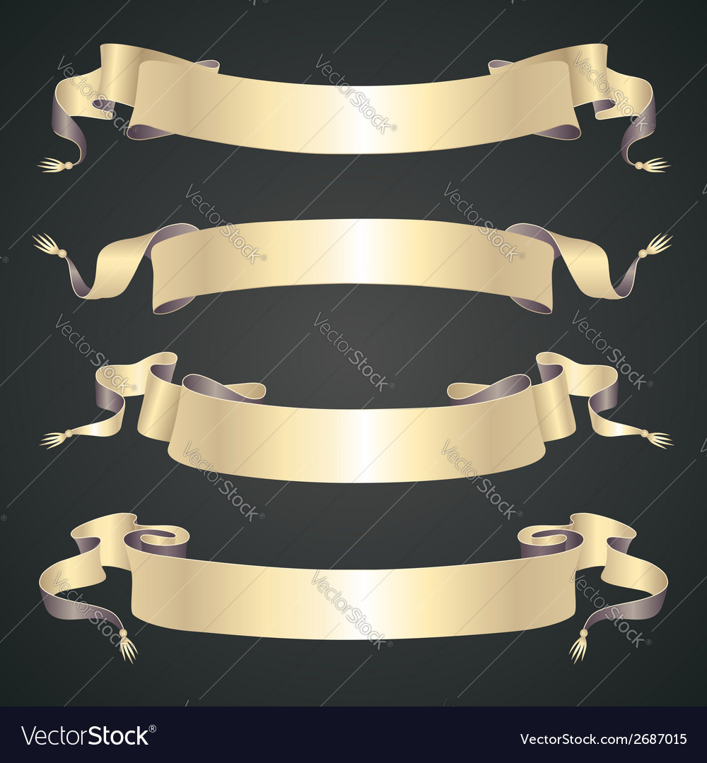 Retro ribbons set vector | Price: 1 Credit (USD $1)