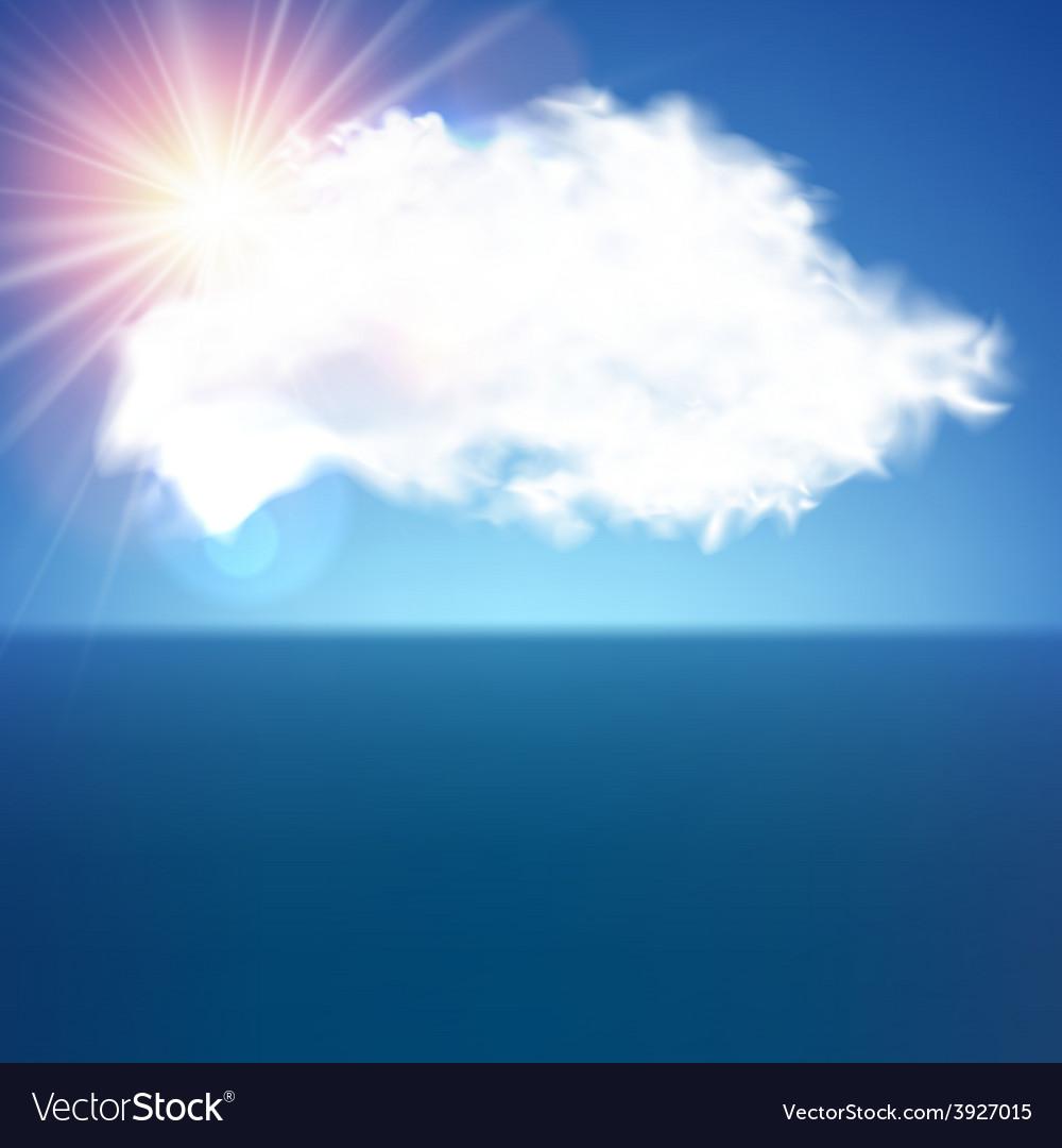 Single cloud over blue vector | Price: 1 Credit (USD $1)