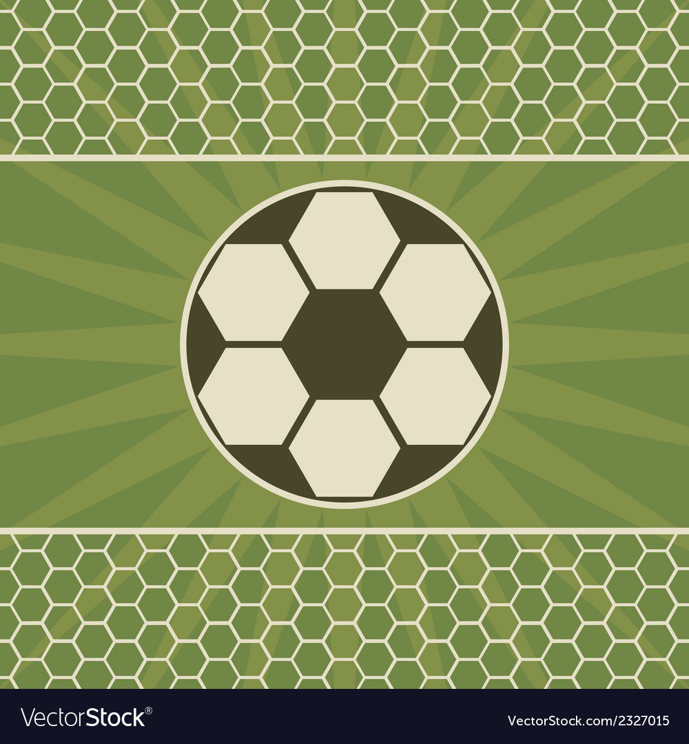 Soccer greeting card with game ball vector | Price: 1 Credit (USD $1)