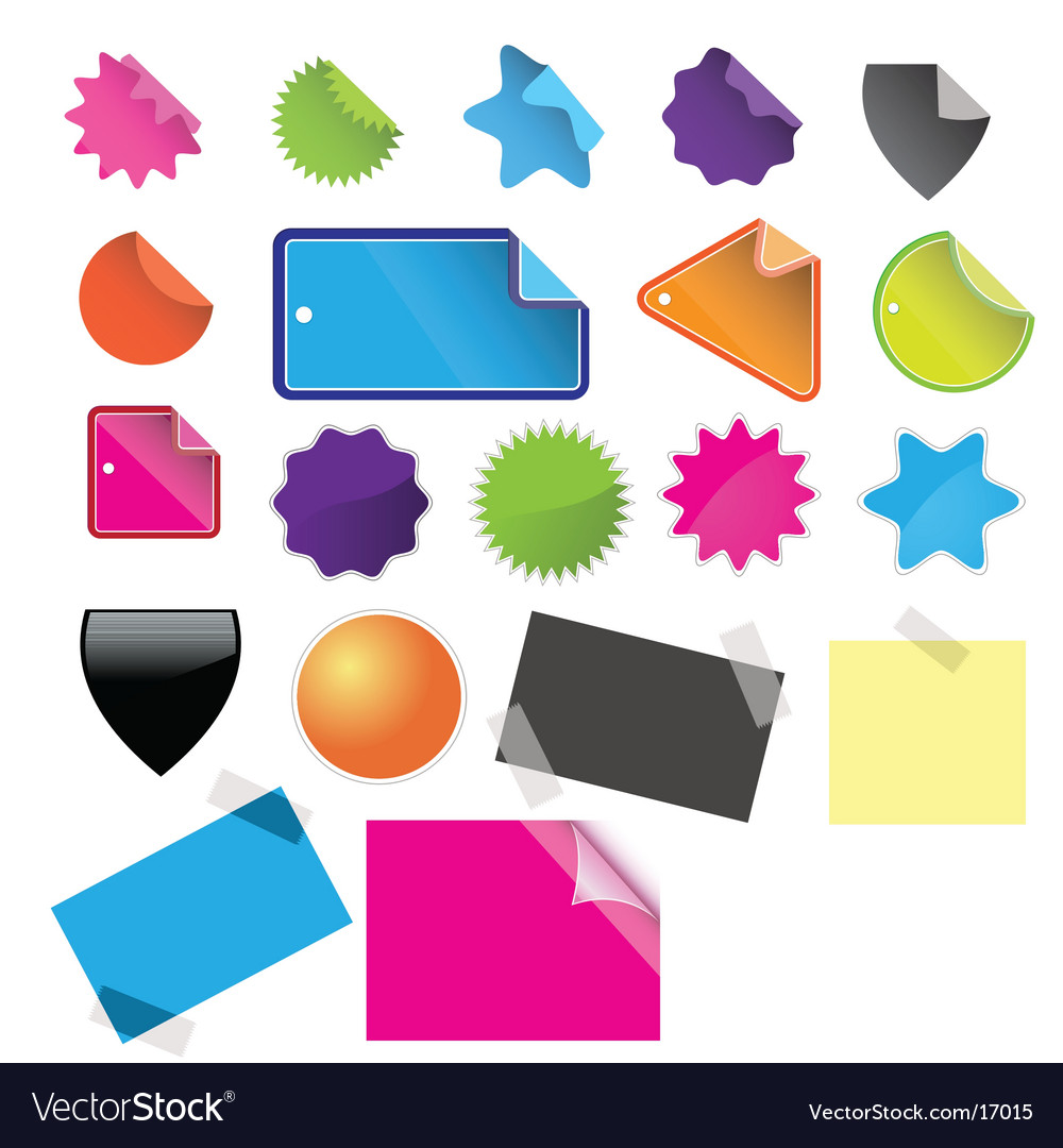 Tags badges and stickies vector | Price: 1 Credit (USD $1)