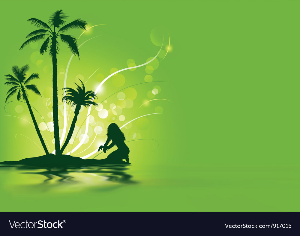 Tropical holiday vector | Price: 1 Credit (USD $1)