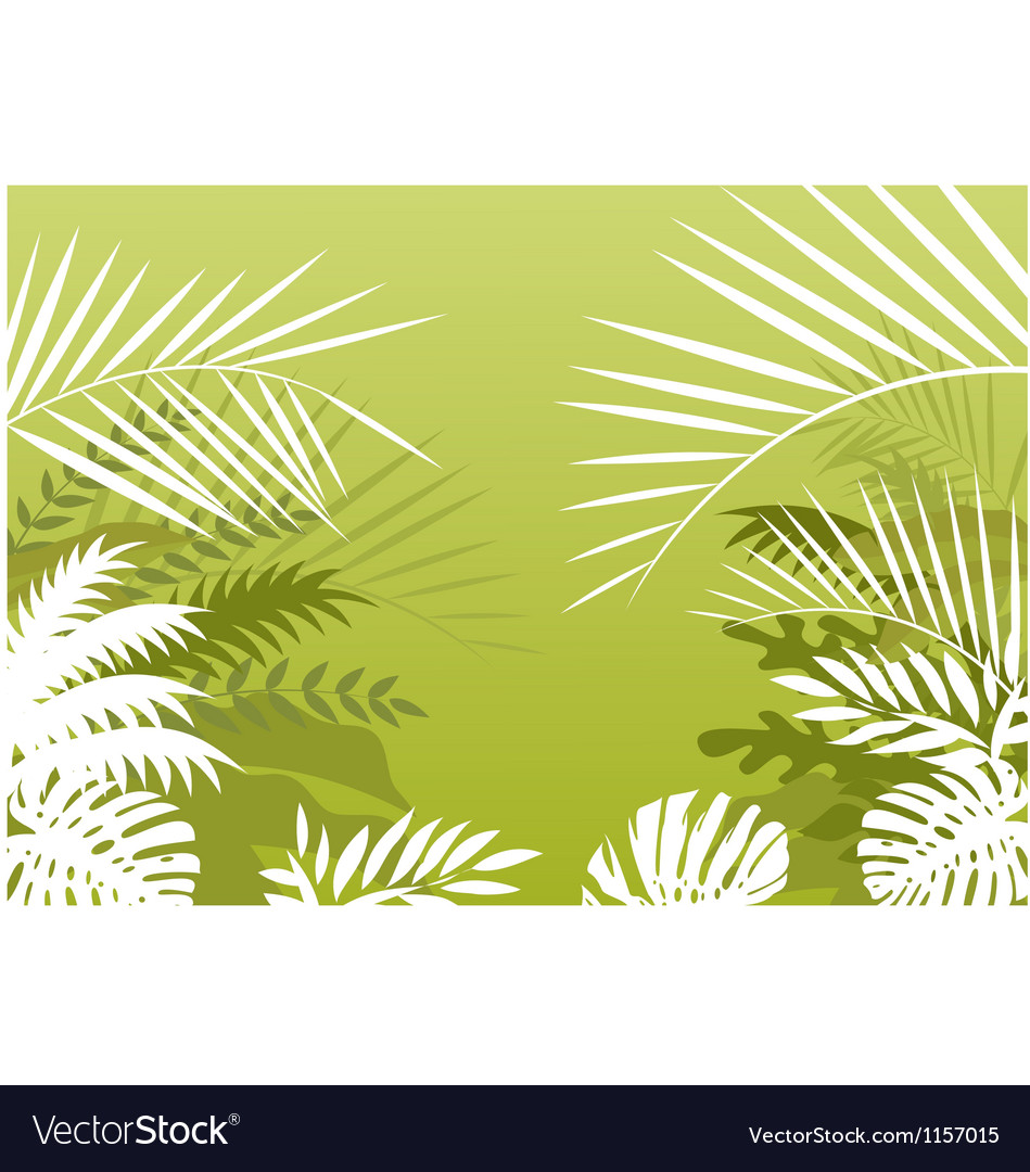 Tropical palm background vector | Price: 1 Credit (USD $1)