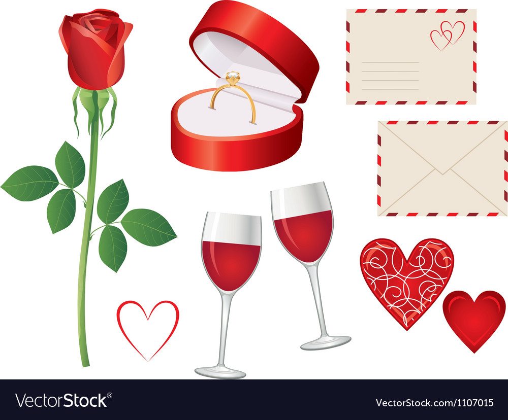 Valentine day icon set vector | Price: 1 Credit (USD $1)