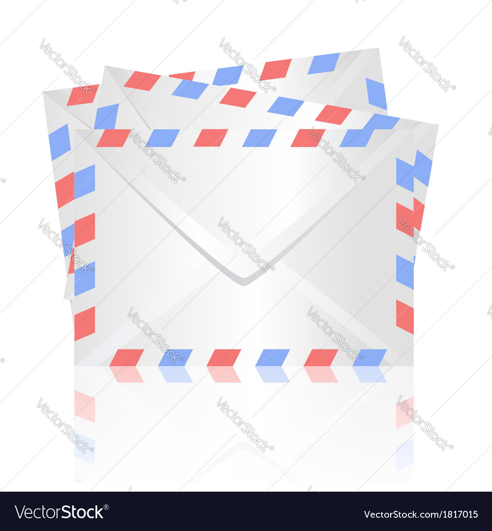 White envelopes vector | Price: 1 Credit (USD $1)