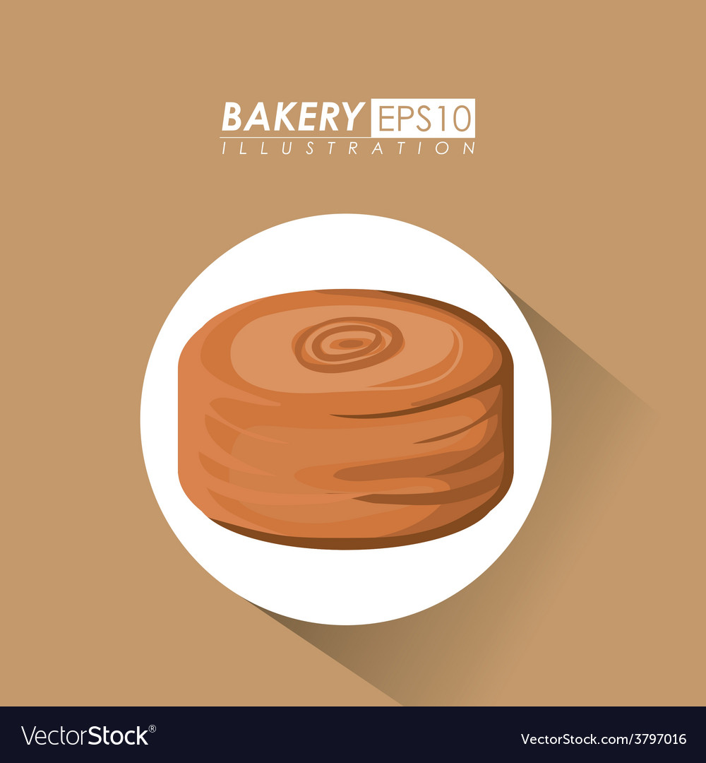 Bakery design over brown background vector | Price: 1 Credit (USD $1)