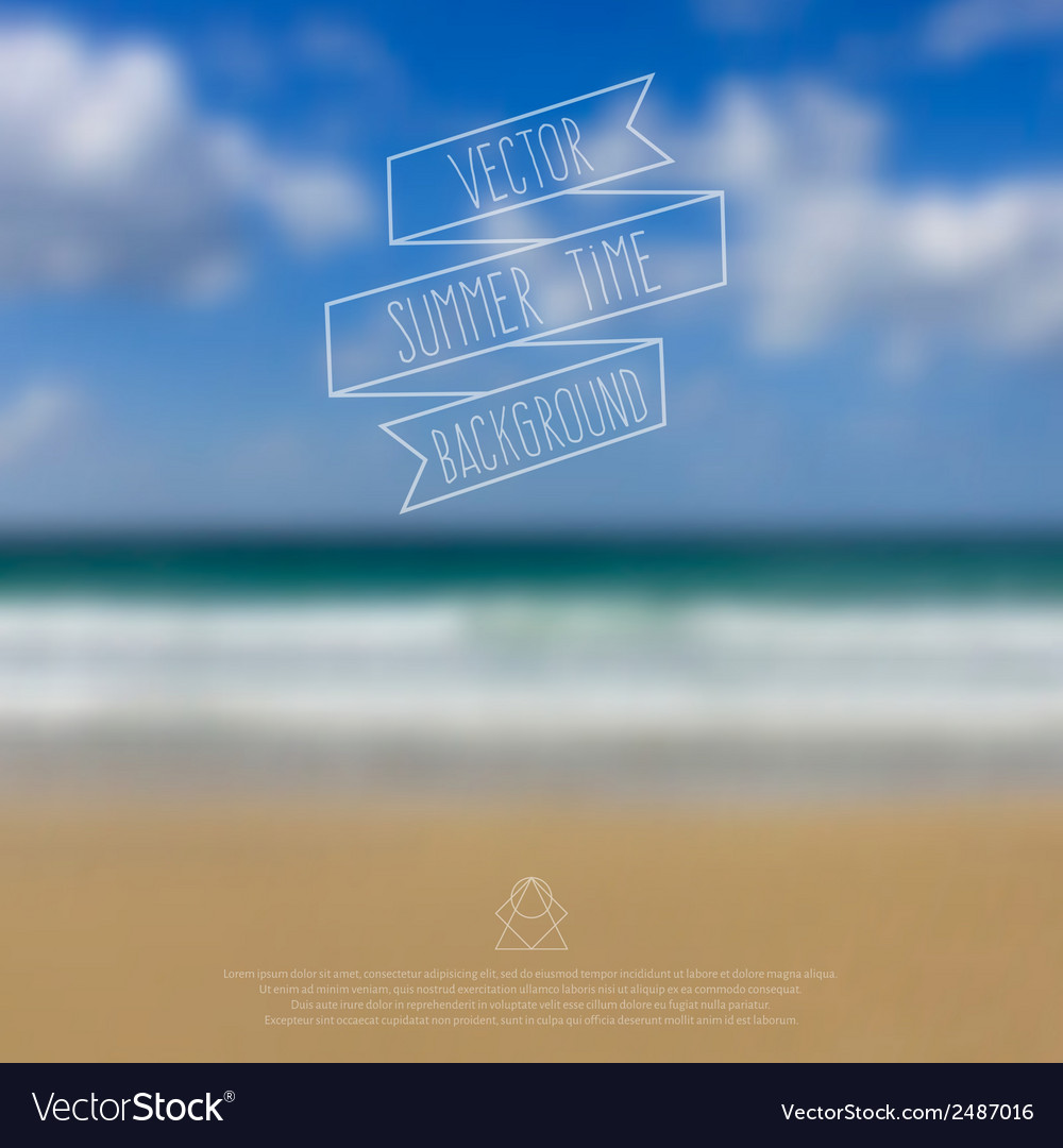Blurred sea beach background with symbol text and vector | Price: 1 Credit (USD $1)