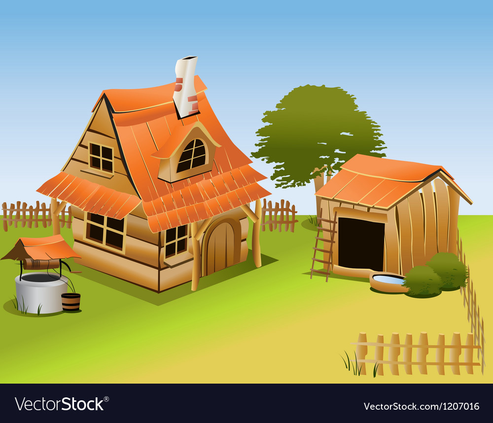 Cartoon farm vector | Price: 1 Credit (USD $1)