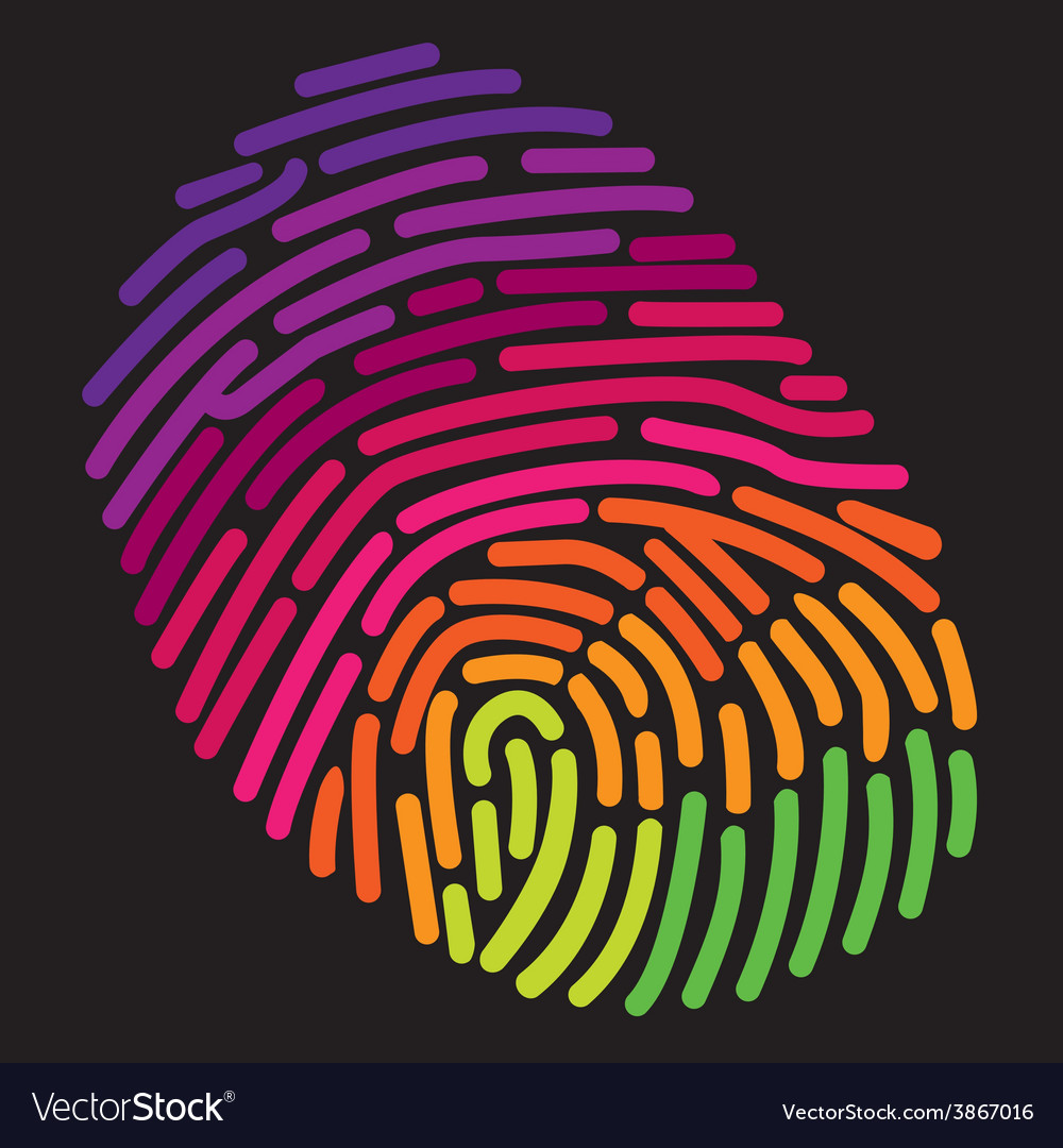 Finger print rainbow vector | Price: 1 Credit (USD $1)