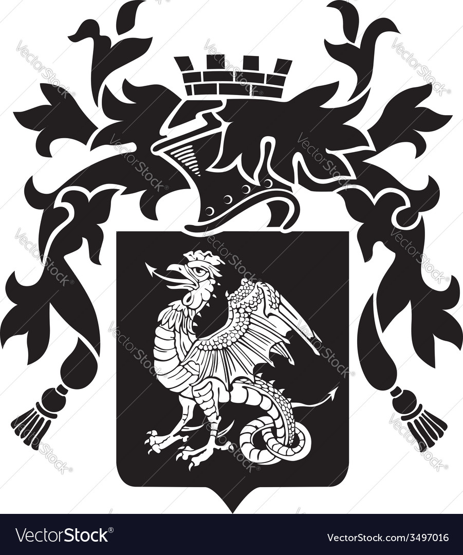 Heraldic silhouette no36 vector | Price: 1 Credit (USD $1)