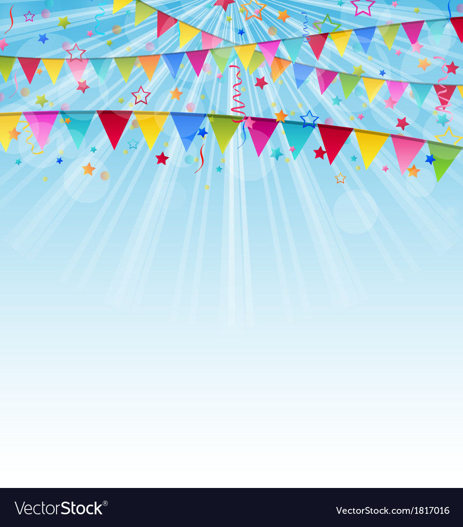 Holiday background with birthday flags and vector | Price: 1 Credit (USD $1)