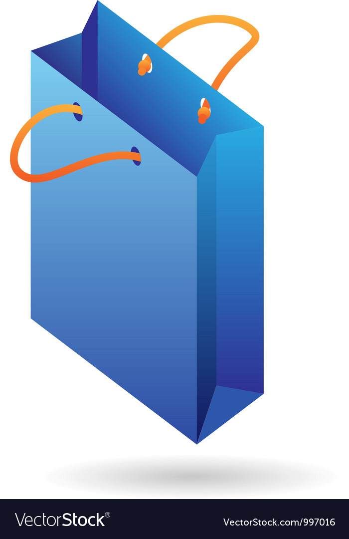 Isometric icon of paper bag vector   Price: 1 Credit (USD $1)