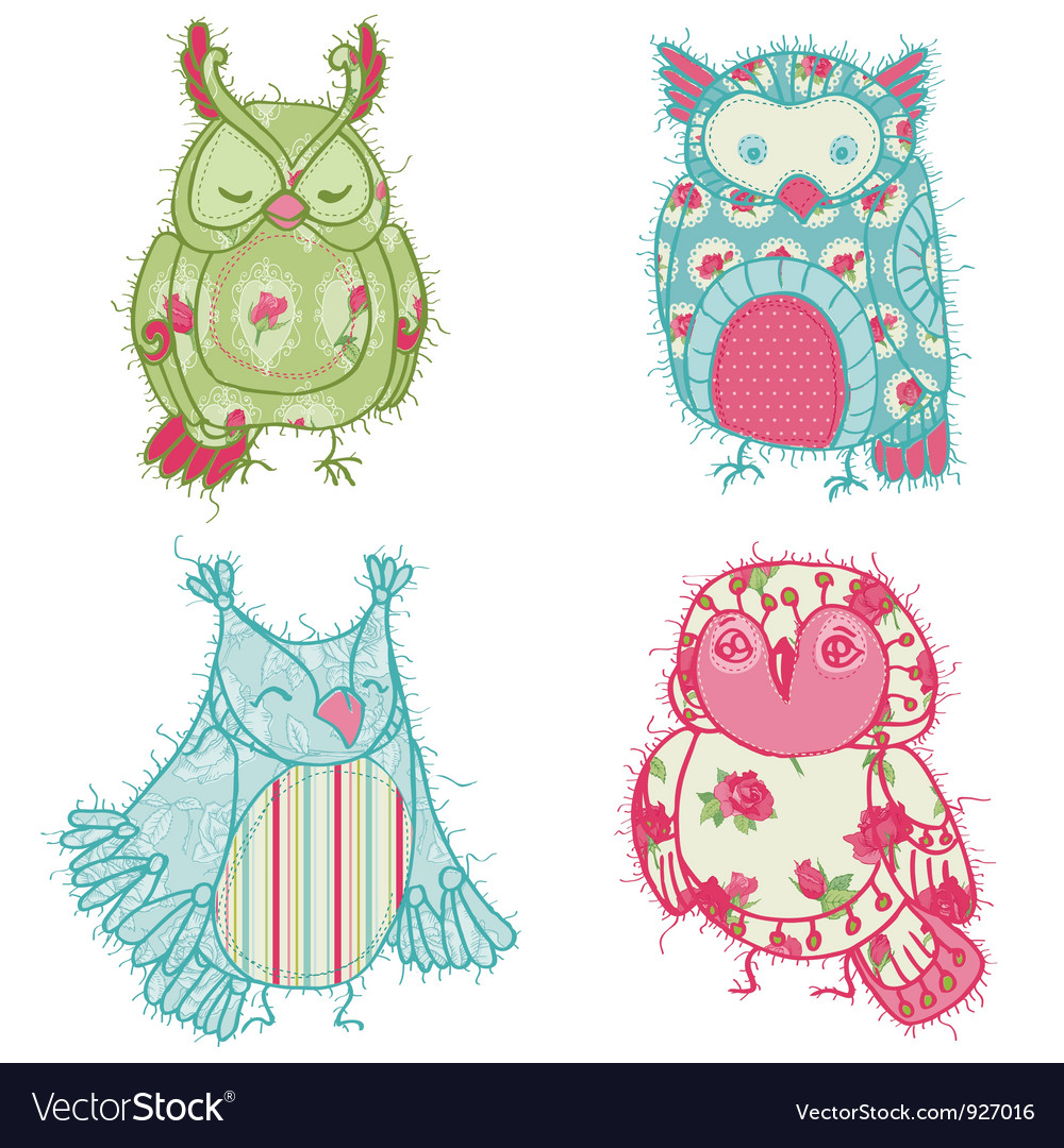 Owl scrapbook collection vector | Price: 3 Credit (USD $3)