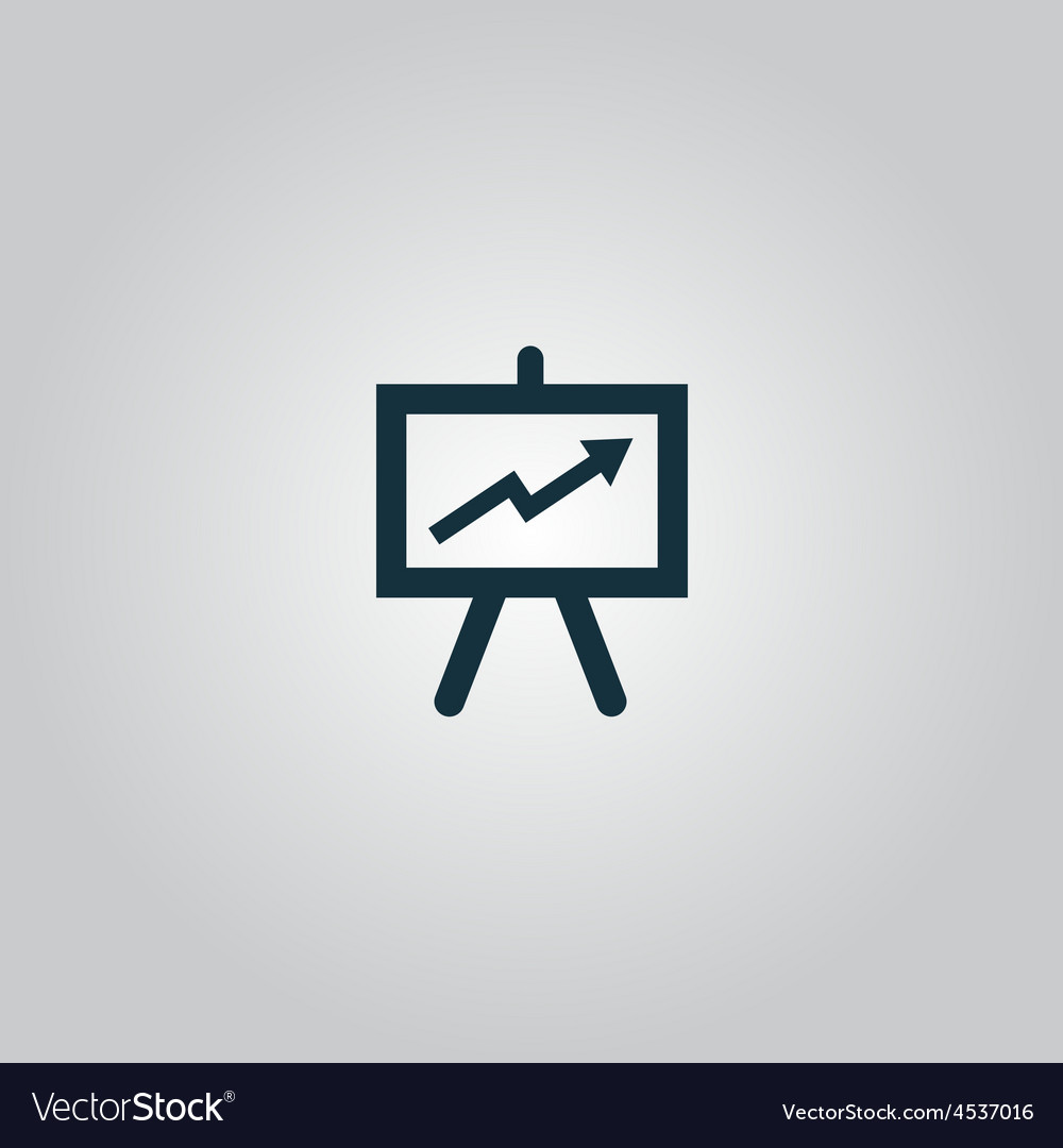 Presentation billboard icon symbol flat modern vector | Price: 1 Credit (USD $1)