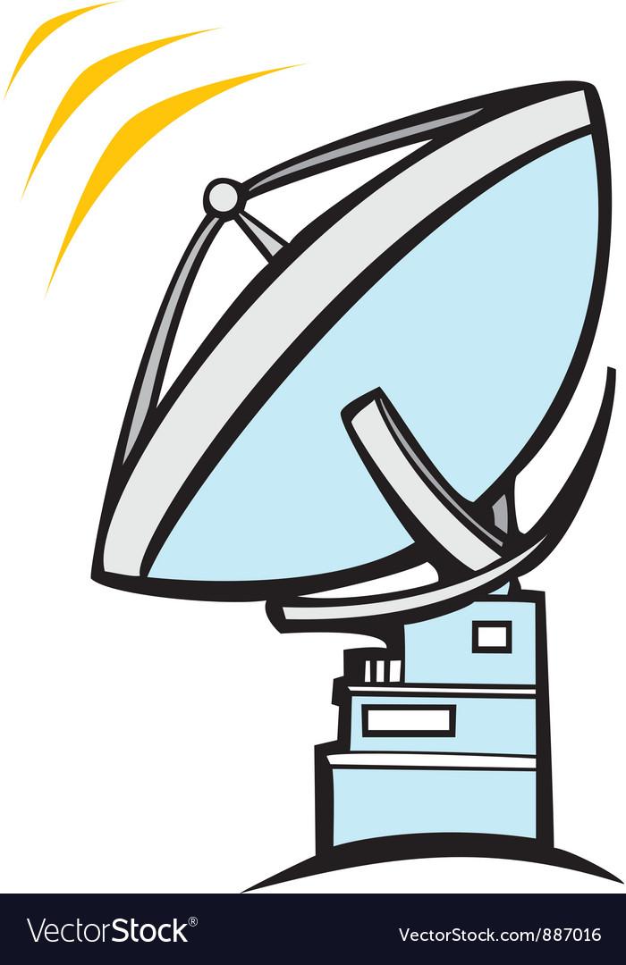 Radio dish telescope vector | Price: 1 Credit (USD $1)