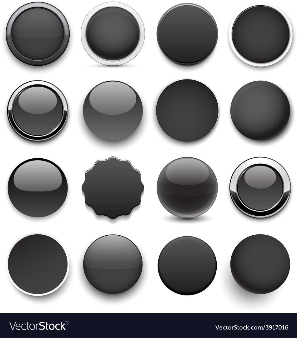 Round black icons vector | Price: 1 Credit (USD $1)